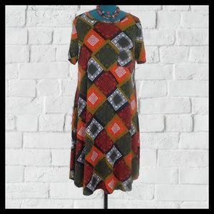 NWOT LuLaRoe Hi Low Dress & Necklace XL